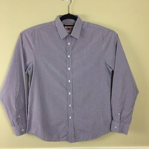 Thomas Pink Super Slim Fit Button Front Shirt
